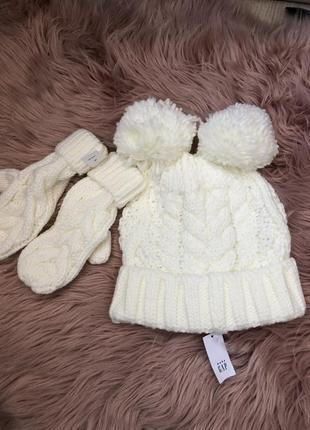 Детский наборчик шапочка и варежки  gap 🤩размер 4-5 лет