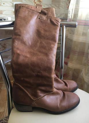 Кожаные сапоги 39рр распродажа вещи до 100грн