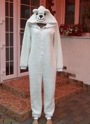 Tom tailor (46/48р) флисовый оригинальный комбинезон пижама кигуруми  новый