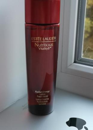 Estée laudernutritious vitality 8 лосьон тоник освежающая вода