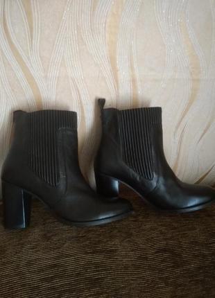 Кожаные ботинки, ботильоны 41 р