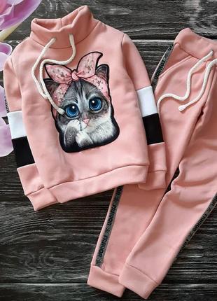 Костюм кошка трехнитка с начесом