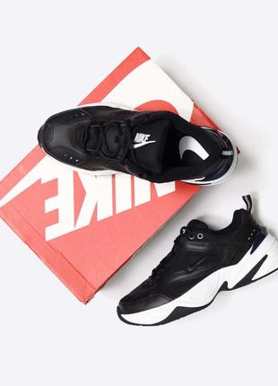 Nike m2k tekno 43, 27,5см. мужские новые чёрные кожаные кроссовки dad shoes