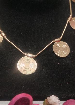 Винтажное ожерелье монетки + подарок