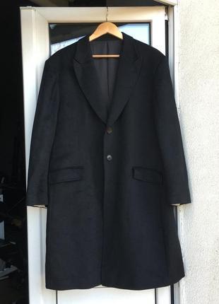 Пальто carven черное оригинал шерсть кашемир