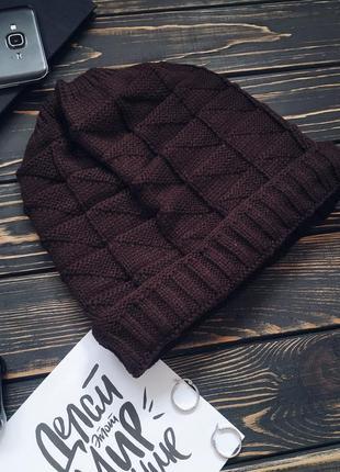 Вязанная женская шапка из 100% акрила