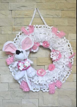 Венок для декора комнаты девочки или новорожденного. hand made
