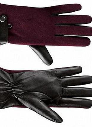Новые кожаные женский перчатки esmara р.7,5, утеплены