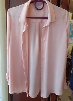 Рубашка нежно-персикового цвета h&m.сорочка ніжно-персикового кольору