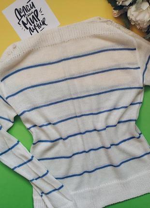 Стильный и нежный женский свитерок в полоску