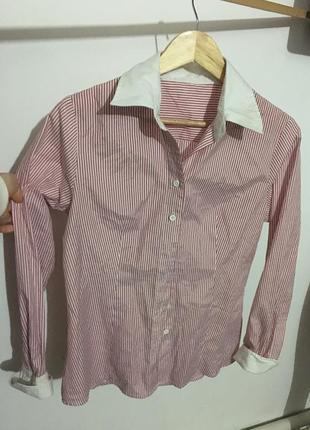 Стильная полосатая рубашка,размер l