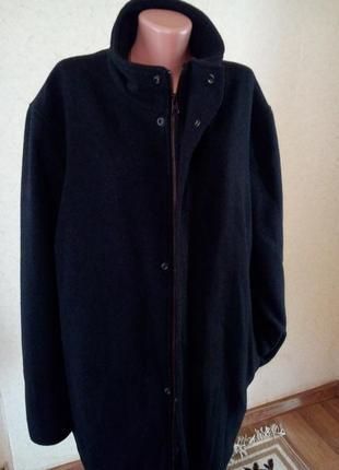 Теплое шерстяное пальто