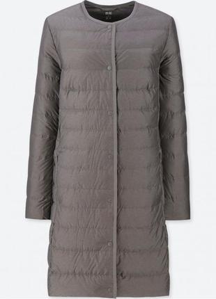 Пальто плащ пуховик women ultra light down compact coat от uniqlo