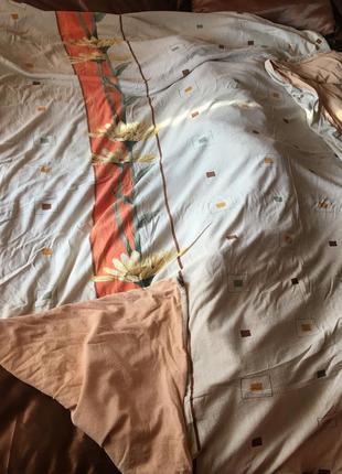 Двухспальный евро комплект махрового постельного белья