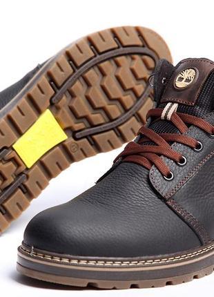 Зимние мужские кожаные ботинки на меху timberland radford