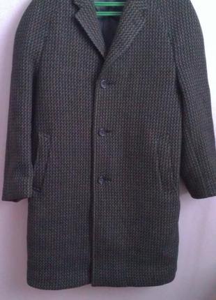 Шерстяное пальто, натуральная шерсть  saxon hawk of savile row london
