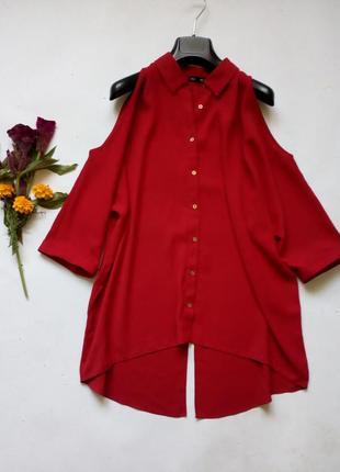 Блуза свободного кроя с разрезом на спине