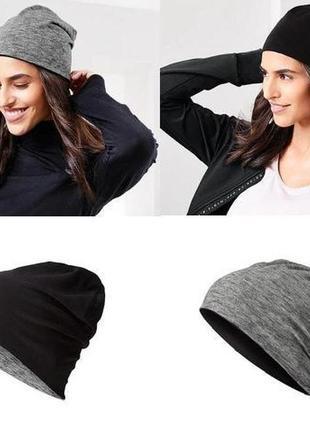Шапка модного дизайна бини от бренда tchibo, германия - двухсторонняя модель