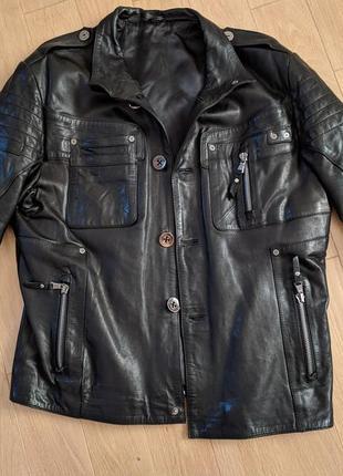Коданная куртка . натуральная кожанная куртка. кожанка