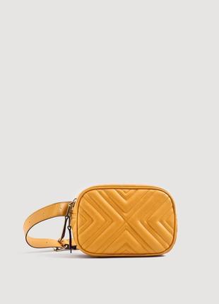 Желтая поясная сумка бананка mango