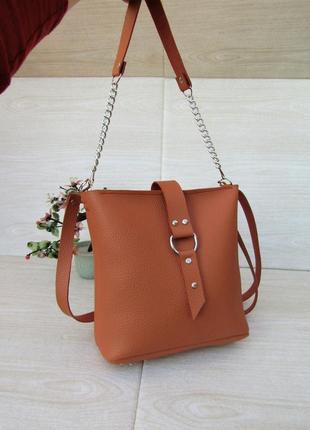 Терракотовая сумка с кольцом handmade