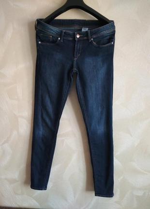 Фирменные темно-синие джинсы,скины h&m
