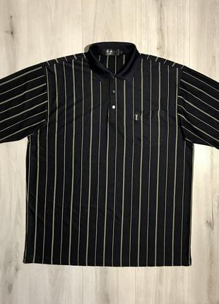 Поло/футболка yves saint laurent silk striped polo винтаж, шёлк