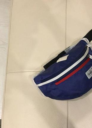 Большая сумка на пояс/барсетка/мессенджер eastpak bundel blue, unisex