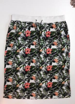 Фирменная полульняная юбка