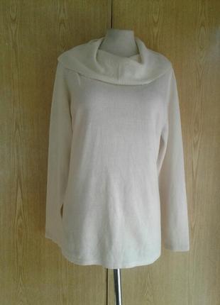 Молочного цвета свитер c хомутом, 2xl-3xl.