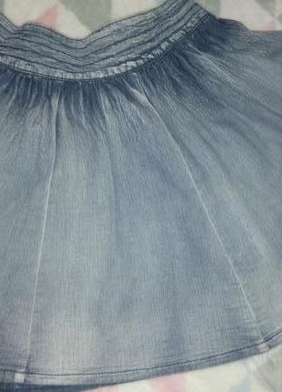 Летняя джинсовая юбка размер 10 falmer heritage