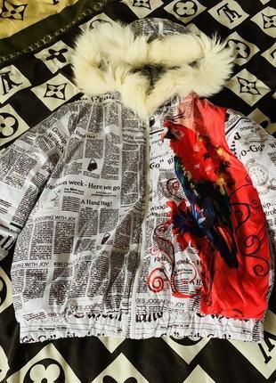 Куртка с капюшоном тендовая 👍 газета 📰