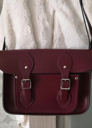 Стильная кожаная сумка сумка-портфель the cambridge satchel company
