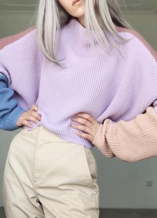 Идеальный двухсторонний разноцветный свитер мечты от urban outfitters