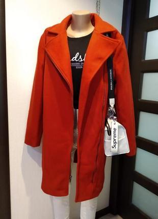 Крутое стильное брендовое теплое пальто