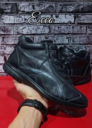 Кожаные утепленные ботиночки ecco оригинал