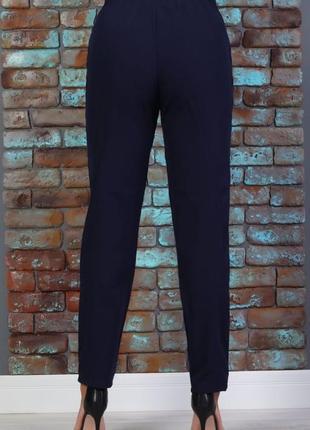 Шикарные брюки темно синие