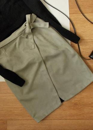 Трендовая юбка  под замш river island