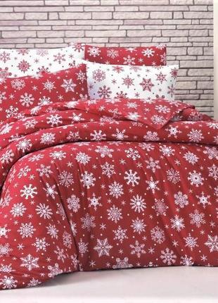 Снежинки - новогоднее турецкое постельное белье