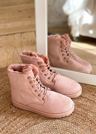 Сноубутсы ботинки розовые