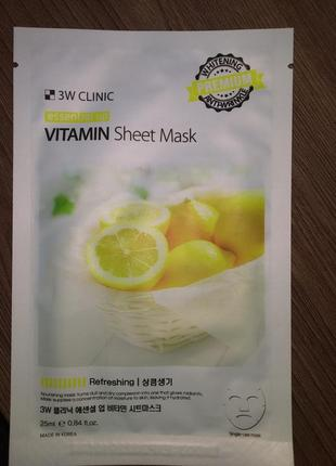Тканевые маски 3w clinic essential up sheet mask