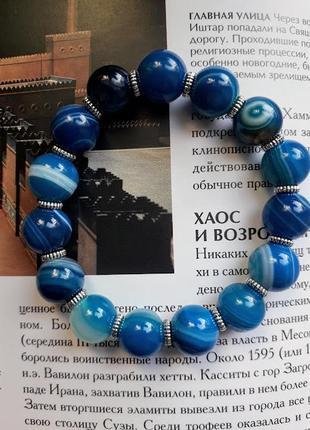 Великолепный браслет из натурального камня агат