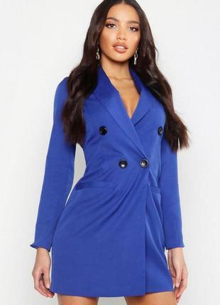 Платье-блейзер на запах от бренда boohoo. размер 46-48.новое.