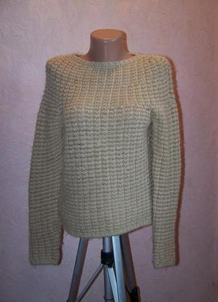 Структурированный верблюжий свитер dkny 100%шерсть