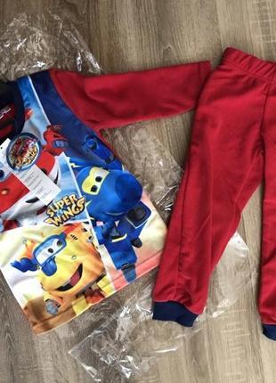 Флисовая пижама для мальчиков от disney, венгрия, красная, синяя