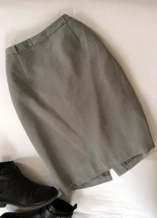 Крутая актуальная серая юбка миди next карандаш классическая для офиса
