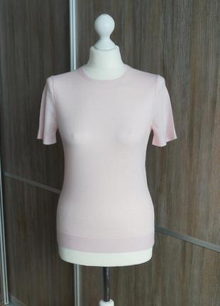 Woolmark базовая шерстяная футболка. размер xs