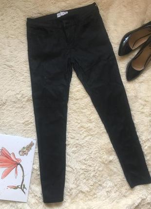 🔝чёрные вискозные штаны mango/чёрные повседневные брюки/чёрные джинсы🔝