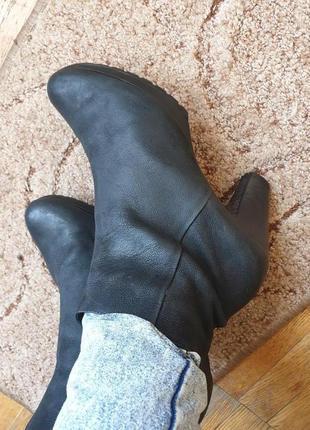 Шикарные стильные ботинки боты ботильоны деми кожа