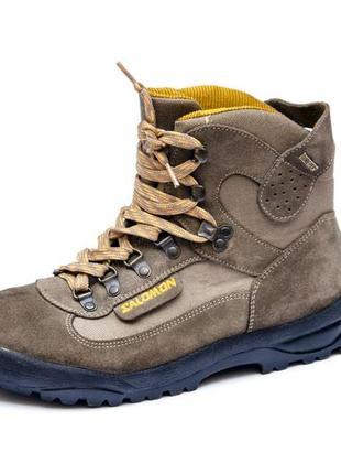 Замшевые ботинки salomon contagrip gore-tex. стелька 26, 5 см